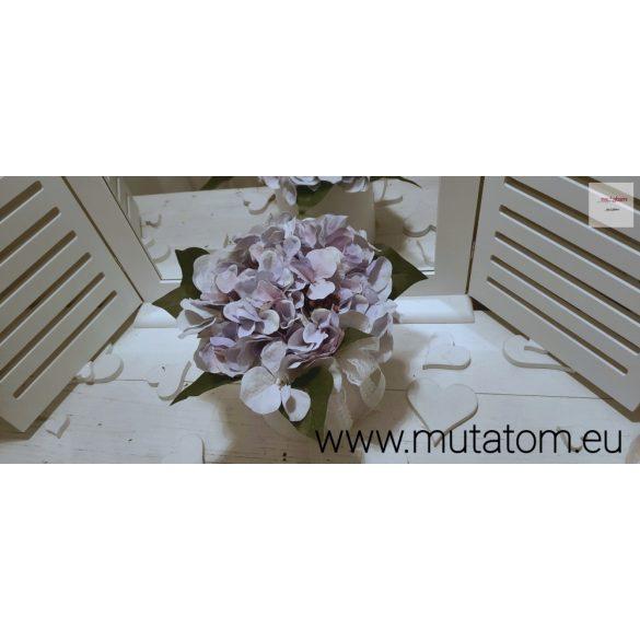 Hortenzia pasztell lila Virágbox 12 cm átmérőjű henger dobozban