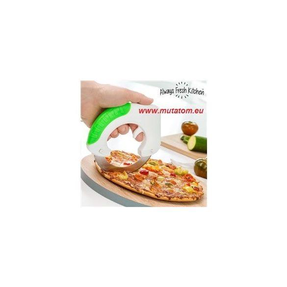 Chop & Roll kerek kés, pizzavágó, zöldség és gyümölcs vágó
