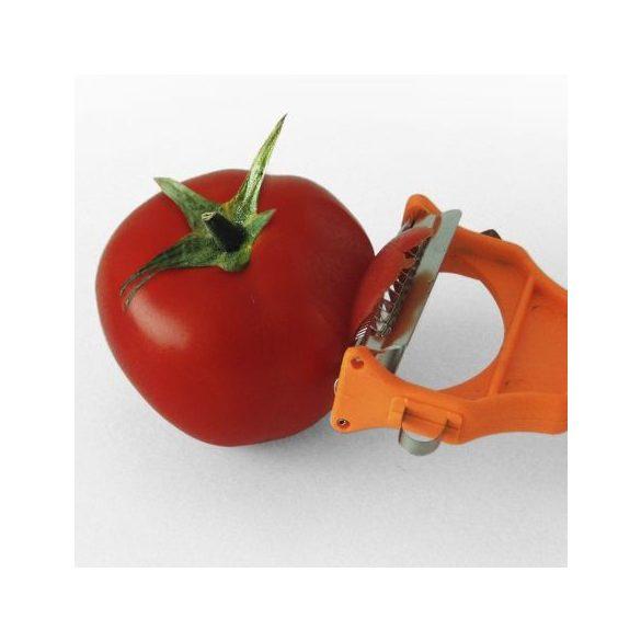 Szíves Duo zöldség- gyümölcshámozó, szeletelő, dekoráló, 7 cm pengével