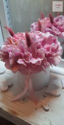 Hortenzia púderrózsaszín Virágbox 12 cm átmérőjű dobozban