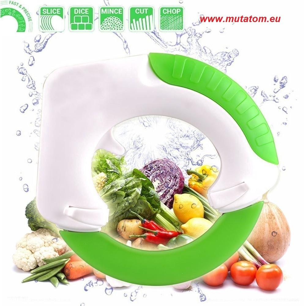 Image of Chop & Roll kerek kés, pizzavágó, zöldség és gyümölcs vágó